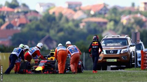 Ricciardo puts Red Bull on top in first Hungary practice