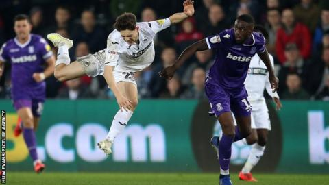 Daniel James flying through the air