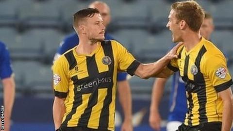 Andy Mangan injured himself scoring Shrewsbury's winner in last season's League Cup win at Leicester