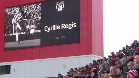 Fans pay tribute to cyrille Regis
