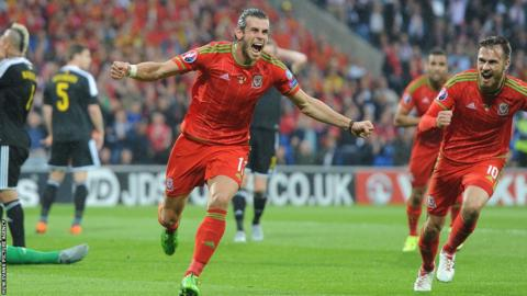 2015: Wales took a big step towards qualifying for their first major since 1958 when Gareth Bale's goal secured a memorable 1-0 win over Belgium at Cardiff City Stadium.
