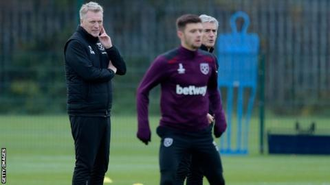 David Moyes oversees training in preparation for his first game as West Ham manager against Watford (Sunday 16 November, 16: 00 GMT)