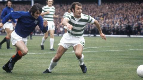 Rangers' Tommy McLean and Celtic's Jim Brogan