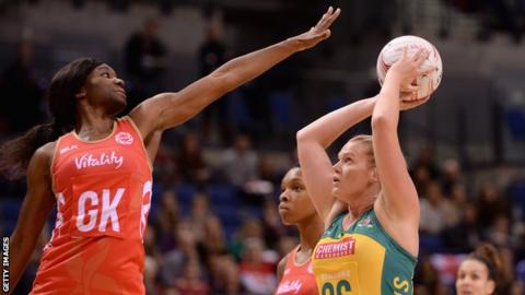 Ama Agbeze captained England for the first time in May's Netball Europe tournament