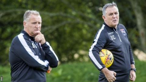 Sandy Stewart with Owen Coyle at Ross County