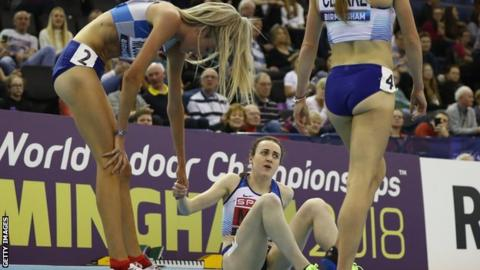 High jump takes centre stage on opening day of world indoors