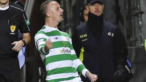 Leigh Griffiths celebrates his winning goal