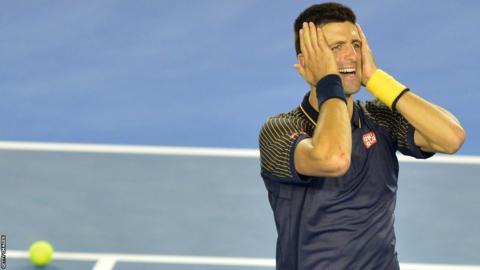 Novak Djokovic celebrates winning a third straight Australian Open in 2013