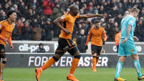 Benik Afobe has now scored 27 of his career total of 70 goals for Wolves