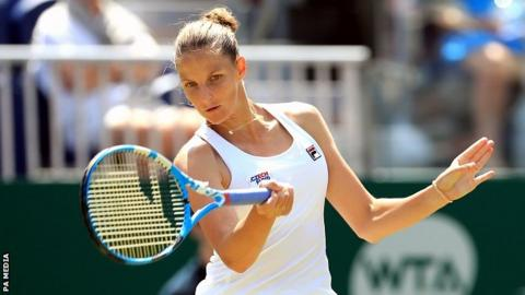 Eastbourne tennis: Karolina Pliskova to face Wimbledon champion Angelique Kerber in final