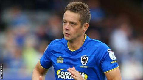 Paul Robinson in action for AFC Wimbledon