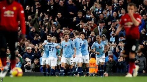 Man City celebrate 44-pass goal