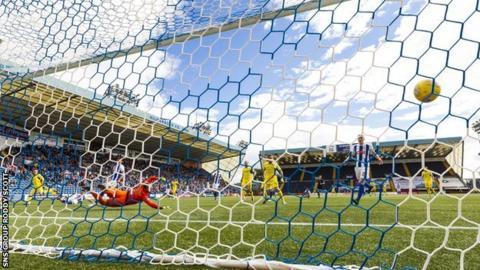 Michael O'Halloran scores past Kilmarnock keeper Jamie MacDonald