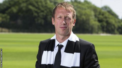 Swansea City appoint former West Brom player Graham Potter as manager