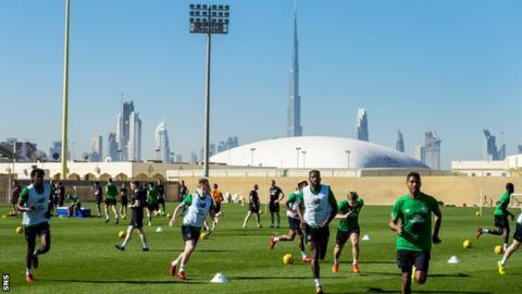 Celtic training in Dubai