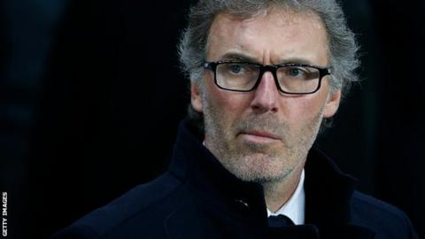 Paris St-Germain coach Laurent Blanc