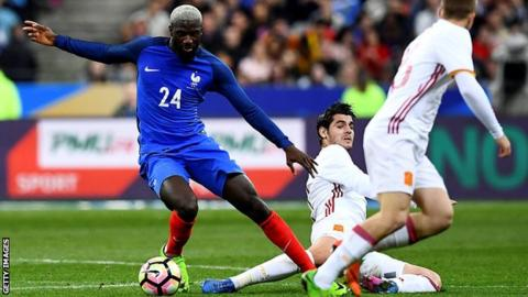 Tiemoue Bakayoko in action for France