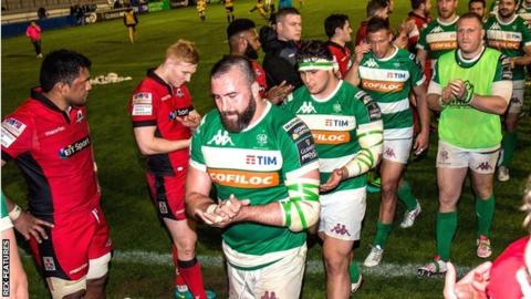 Edinburgh applaud Treviso off the pitch after a defeat that leaves them five points off the bottom of the Pro12
