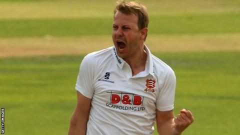 Neil Wagner celebrates taking a wicket for Essex last season