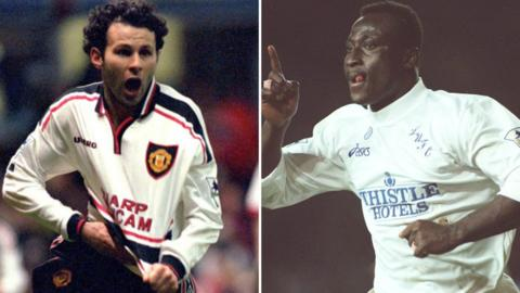 Ryan Giggs and Tony Yeboah