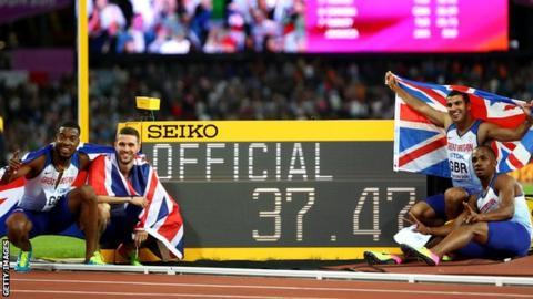 Britain's quartet celebrate gold