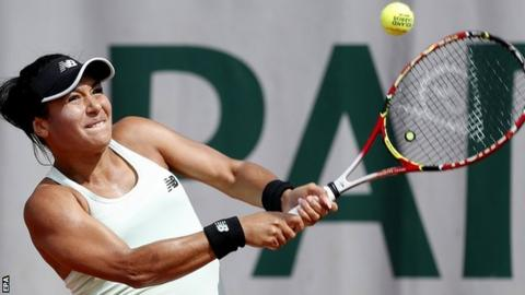 Heather Watson beaten by Elise Mertens in second round of French Open
