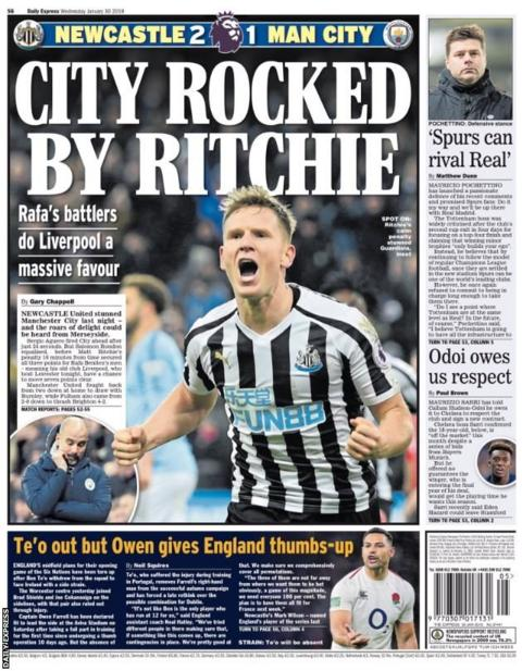 Wednesday's Daily Express