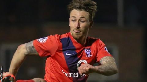Jake Hyde in action for York City