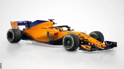 The MCL33 has switched from a Honda to a Renault engine