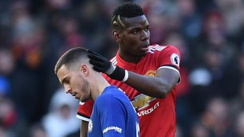 Eden Hazard and Paul Pogba