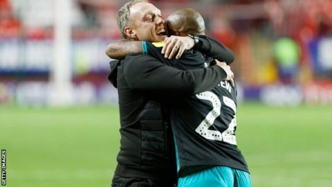 Steve Cooper and Andre Ayew