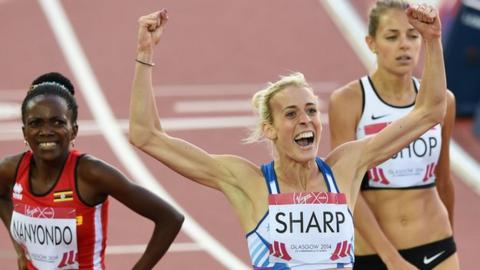 Lynsey Sharp takes the silver at Glasgow 2014