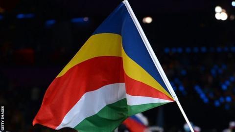 The Seychelles flag