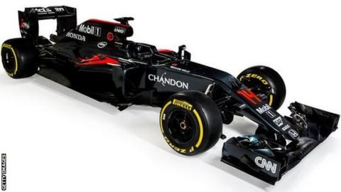 McLaren's new F1 car for the 2016 season