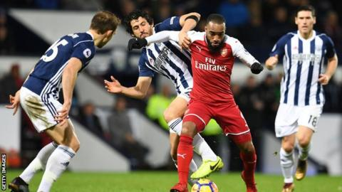 Controversy as late penalty gives West Brom draw against Arsenal