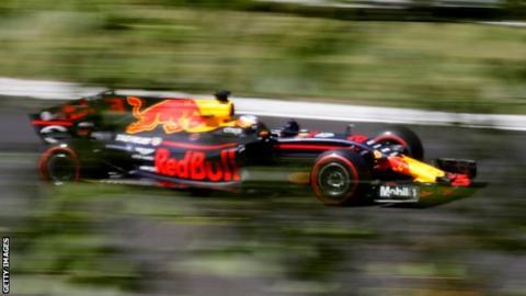 Daniel Ricciardo in action for Red Bull