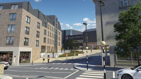 Artist's impression of new Twerton Park development