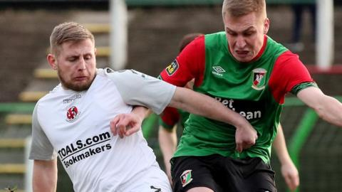 David Cushley's goal against Glentoran was his second successful penalty in two games