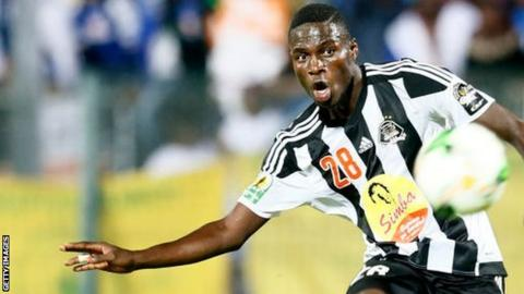 Ben Malango in action for DR Congo's TP Mazembe