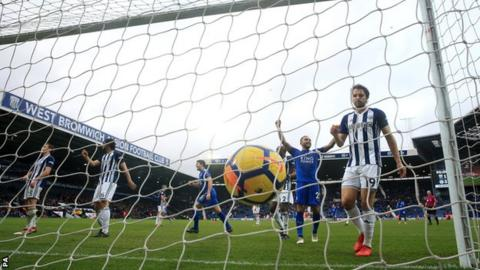 West Brom concede against Leicester City