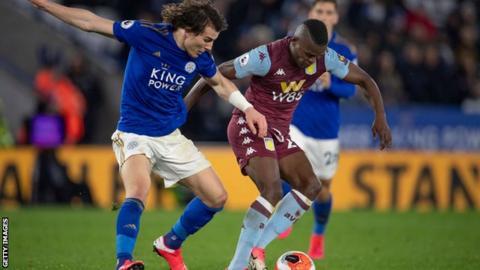 Leicester against Aston Villa