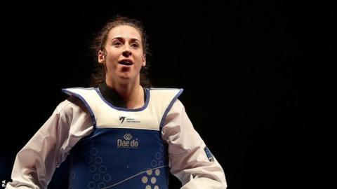 Bianca Walkden at the World Taekwondo Championships in Manchester