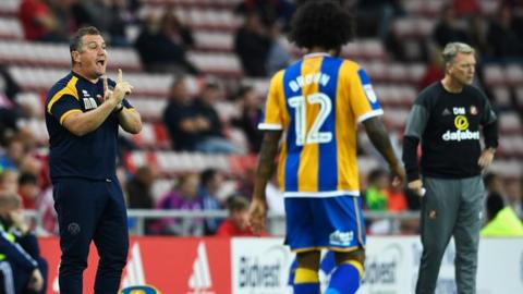 After beating Championship leaders Huddersfield in round one, Shrewsbury put on one of their best displays in losing only narrowly to Town old boy David Moyes' Sunderland in the EFL Cup second round