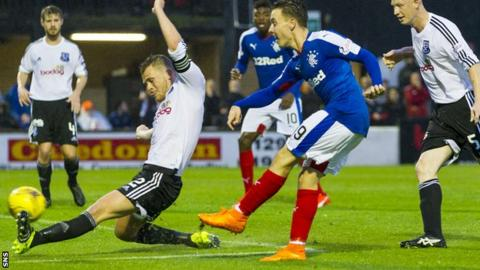 Barrie McKay scores for Rangers against Ayr United