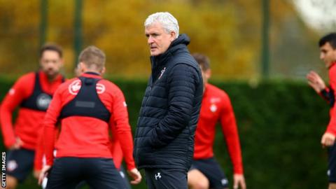 Mark Hughes takes Southampton training