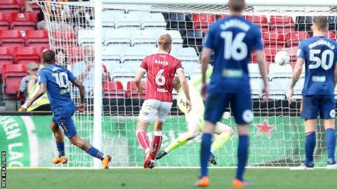 Fraizer Campbell scores Hull City's fifth goal against Bristol City