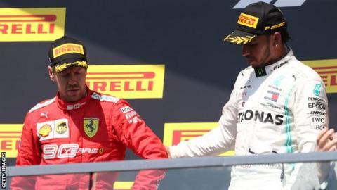 Sebastian Vettel and Lewis Hamilton