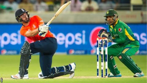England batsman James Vince in T20 action against Pakistan