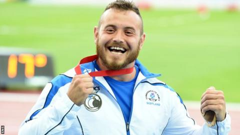 Mark Dry with his Commonwealth Games bronze medal at Glasgow 2014