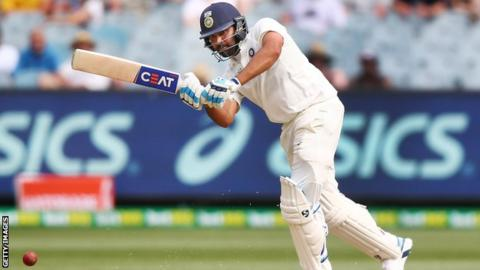 India batsman Rohit Sharma plays a shot